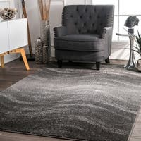 nuLOOM Contemporary Ombre Waves Grey Rug (5' x 8')