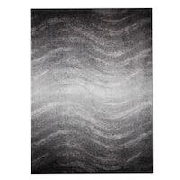 nuLOOM Contemporary Ombre Waves Grey Rug (8'6 x 11'6)