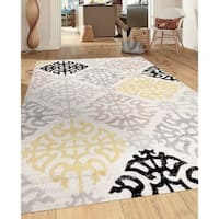 Porch & Den Marigny St. Claude Geometric Design Cream Indoor Area Rug - 3'3 x 5'