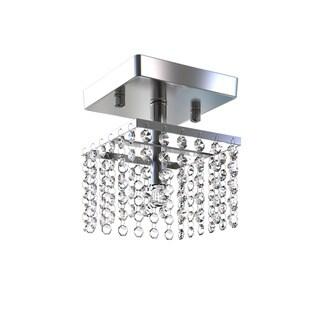 Porch & Den Riverwest Hadley 5-inch Chrome 1-light Crystal Chandelier