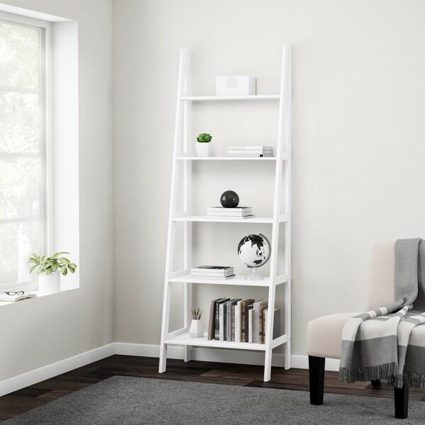 Porch & Den Peterson 5-shelf Ladder Bookcase