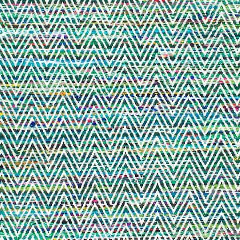 Porch & Den McGuinness Chevron Stripes Magenta Rug