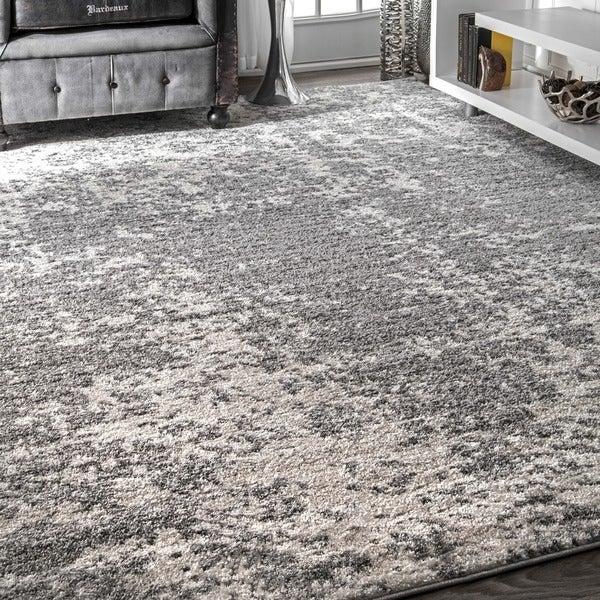 """Porch & Den Williamsburg Seigel Granite Mist Shades Grey Rug - 7'6"""" x 9'6"""""""