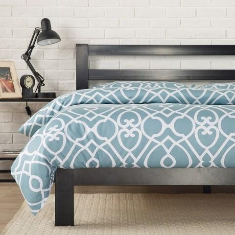 Priage by Zinus 2000H Black Steel Full-size Platform Bed