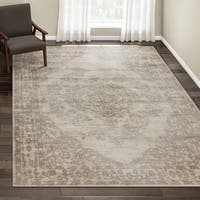 Porch & Den Greenpoint Lorimer Off-white Distressed Oriental Area Rug - 7'10 x 10'