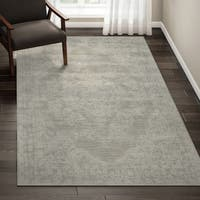 Porch & Den Greenpoint Lorimer Grey Distressed Oriental Area Rug - 5'3 x 7'3