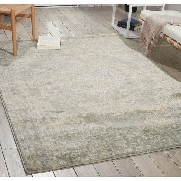 Porch & Den Greenpoint Lorimer Grey Distressed Oriental Area Rug
