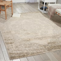Porch & Den Greenpoint Lorimer Off-white Bone Distressed Oriental Area Rug
