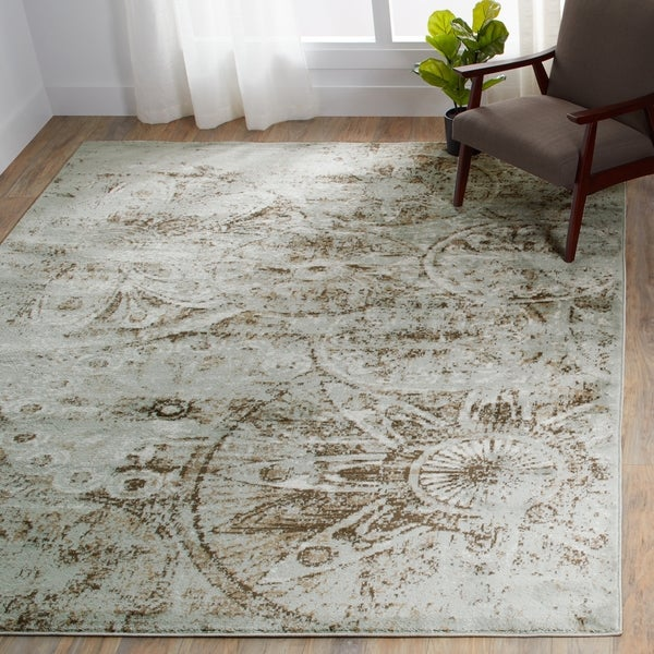 Porch & Den Greenpoint Newel Grey Area Rug - 3'11 x 5'11