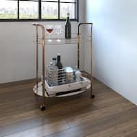 Porch & Den Bushwick Cornelia Champagne 2-shelf Serving Cart