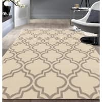 Porch & Den Marigny Spain Trellis Cream Area Rug - 5' x 7'