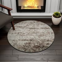 Porch & Den Greenpoint Newel Grey Area Rug - 3'4 x 3'4