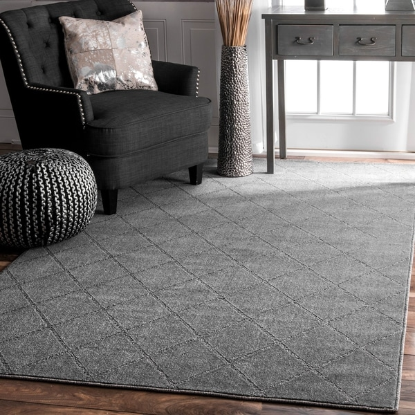 Porch & Den Williamsburg Havemeyer Handmade Trellis Grey Rug (8'6'' x 11'6'')