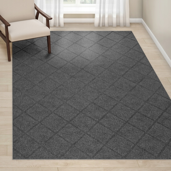 Porch & Den Havemeyer Handmade Trellis Grey Rug - 9' x 12'