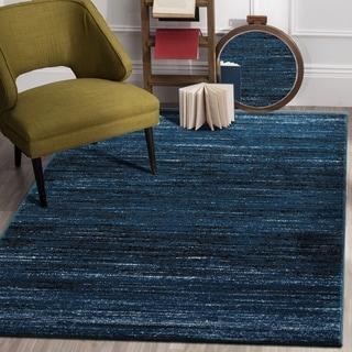 """Porch & Den Alford Blue/ Black Indoor Area Rug - 7'9"""" x 9'5"""""""