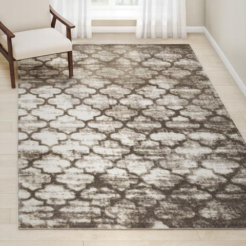 Porch & Den Kirkland Beige Indoor Area Rug - 7'9 x 9'6