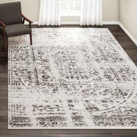 Porch & Den Williamsburg Montrose Vintage Distressed Ring Grey Rug - 8'2 x 11'6