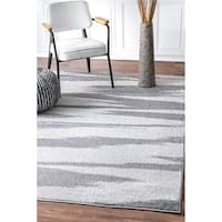 Porch & Den Wythe Grey/ Off-white Abstract Stripe Area Rug - 4' x 6'