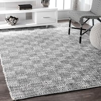 Porch & Den Conselyea Contemporary Granite Abstract Leaves Grey Rug - 5' x 8'
