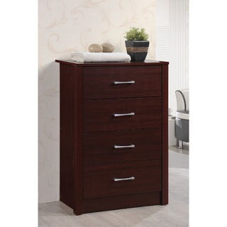 Hodedah Wooden Contemporary 4-Drawer Chest