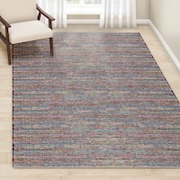 "Porch & Den Nassau Handmade Pink/ Multi-color Braided Cotton Rug - 7'6"" x 9'6"""