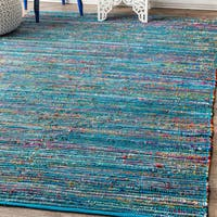 "Porch & Den Nassau Handbraided Stripes Multicolored Rug - 7'6"" x 9'6"""