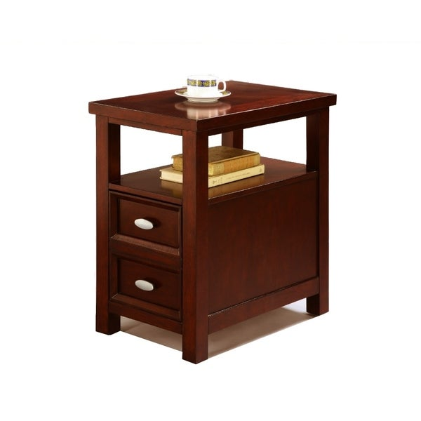 Spacious Chairside Table, Brown