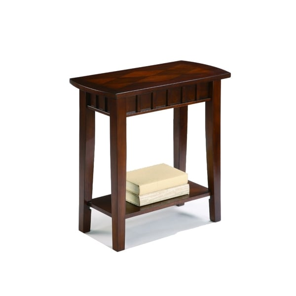 Wooden Chairside Table, Espresso Brown
