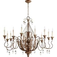 Quorum International Venice Cage Family 12 Light Transitional Chandelier