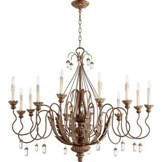 Quorum International Venice Cage Family Crystal and Metal 12-light Chandelier