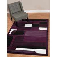 "Westfield Home Rize Hutch Plum Area Rug - 7'10"" x 10'6"""