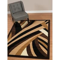"""Westfield Home Rize Brew Brown Area Rug - 7'10"""" x 10'6"""""""