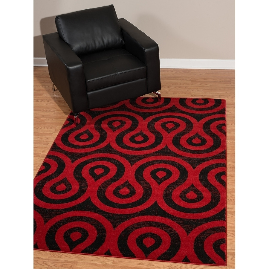 "Westfield Home Rize Cavern Red Area Rug - 7'10"" x 10'6"", ..."