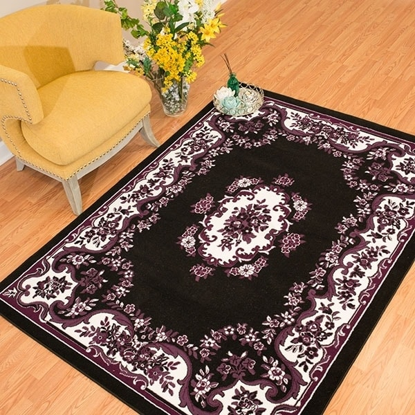 "Westfield Home Rize Galleta Black Area Rug - 7'10"" x 10'6..."