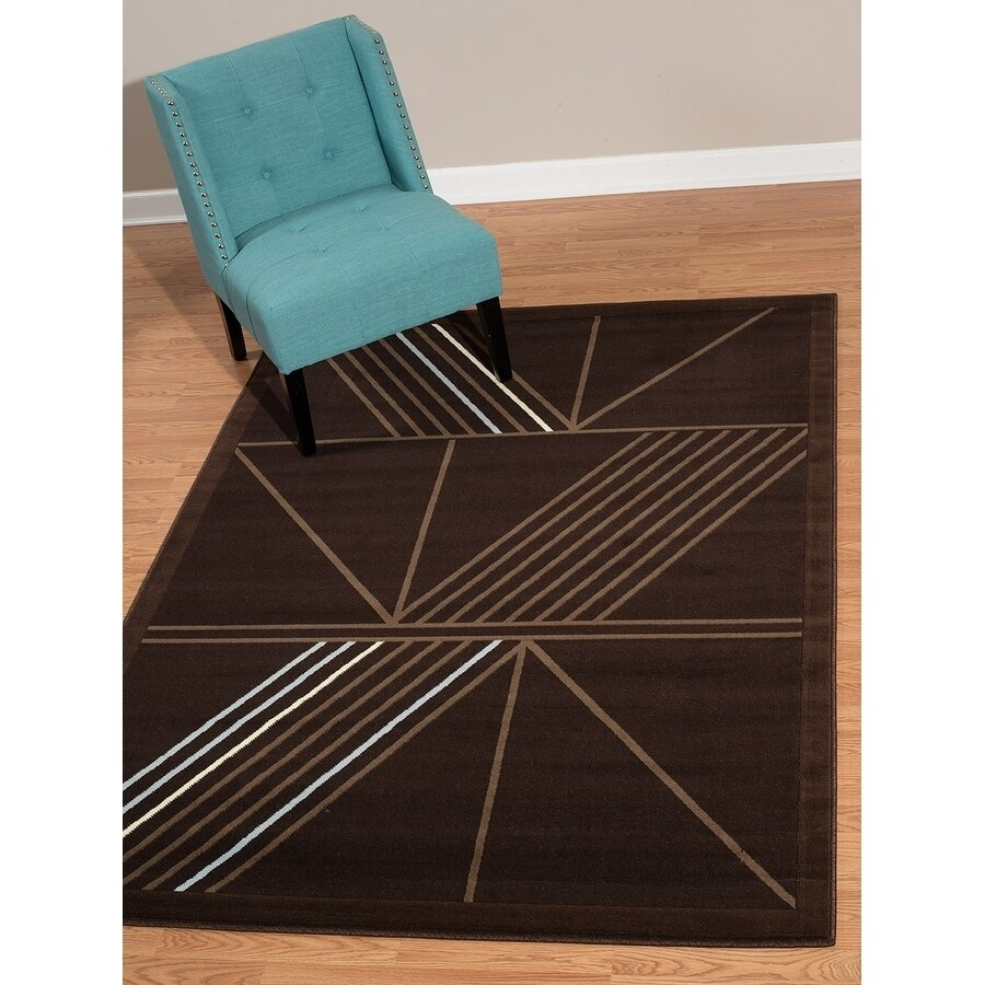 "Westfield Home Rize Keto Dark Brown Area Rug - 7'10"" x 10..."