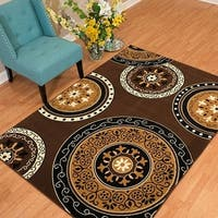 "Westfield Home Rize Paja Dark Brown Area Rug - 7'10"" x 10'6"""