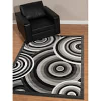"Westfield Home Rize Java Grey Area Rug - 7'10"" x 10'6"""