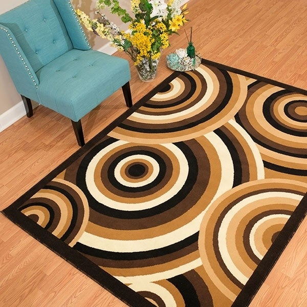 "Westfield Home Rize Java Brown Area Rug - 7'10"" x 10'6"", ..."