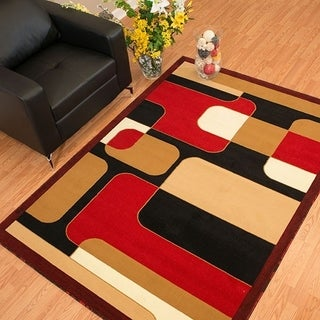 Westfield Home Rize Hutch Red Area Rug (7'10 x 10'6)