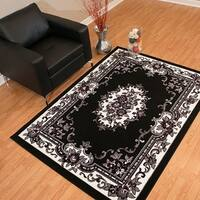 Westfield Home Rize Celia Traditional Oriental Black Area Rug - 5' x 7'
