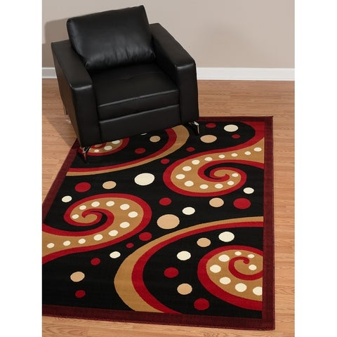 Westfield Home Rize Kaba Red Area Rug - 5' x 7'