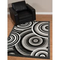 Westfield Home Rize Java Grey Area Rug - 5' x 7'