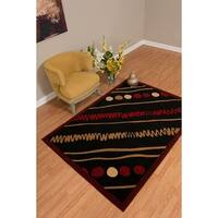 Westfield Home Rize Maito Red Area Rug - 5' x 7'