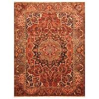 Handmade Herat Oriental Persian Hand-Knotted Tribal Bakhtiari 1920's Wool Rug - 8'6 x 11'8