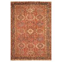 Handmade Herat Oriental Persian Hand-Knotted Tribal Bakhtiari 1920's Wool Rug (Iran) - 7'3 x 11'