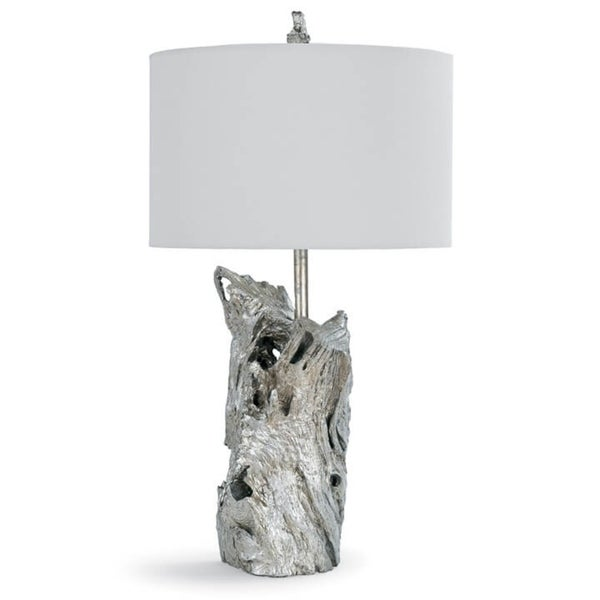 Driftwood Table Lamp (Amber Silver Leaf)