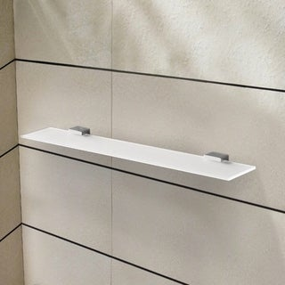 Link to 24 Inch Frosted Glass Shelf with Chrome Mounting Similar Items in Bath