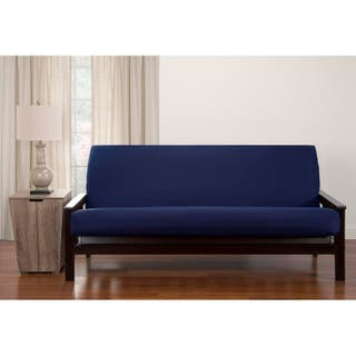 Siscovers Dublin Microfiber Futon Cover Option Navy Blue