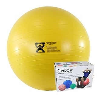 CanDo® Inflatable Exercise Ball - Extra Thick, Boxed