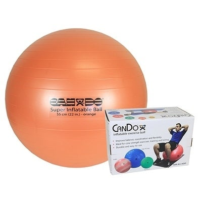 CanDo® Inflatable Exercise Ball - Super Thick, Boxed (blu...